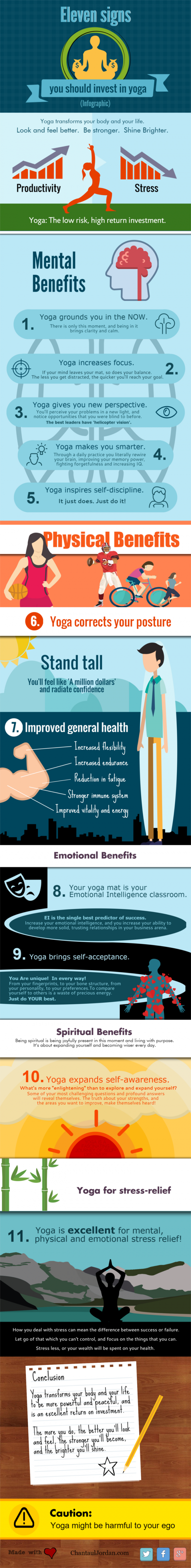 Eleven signs you should invest in yoga - Infographic